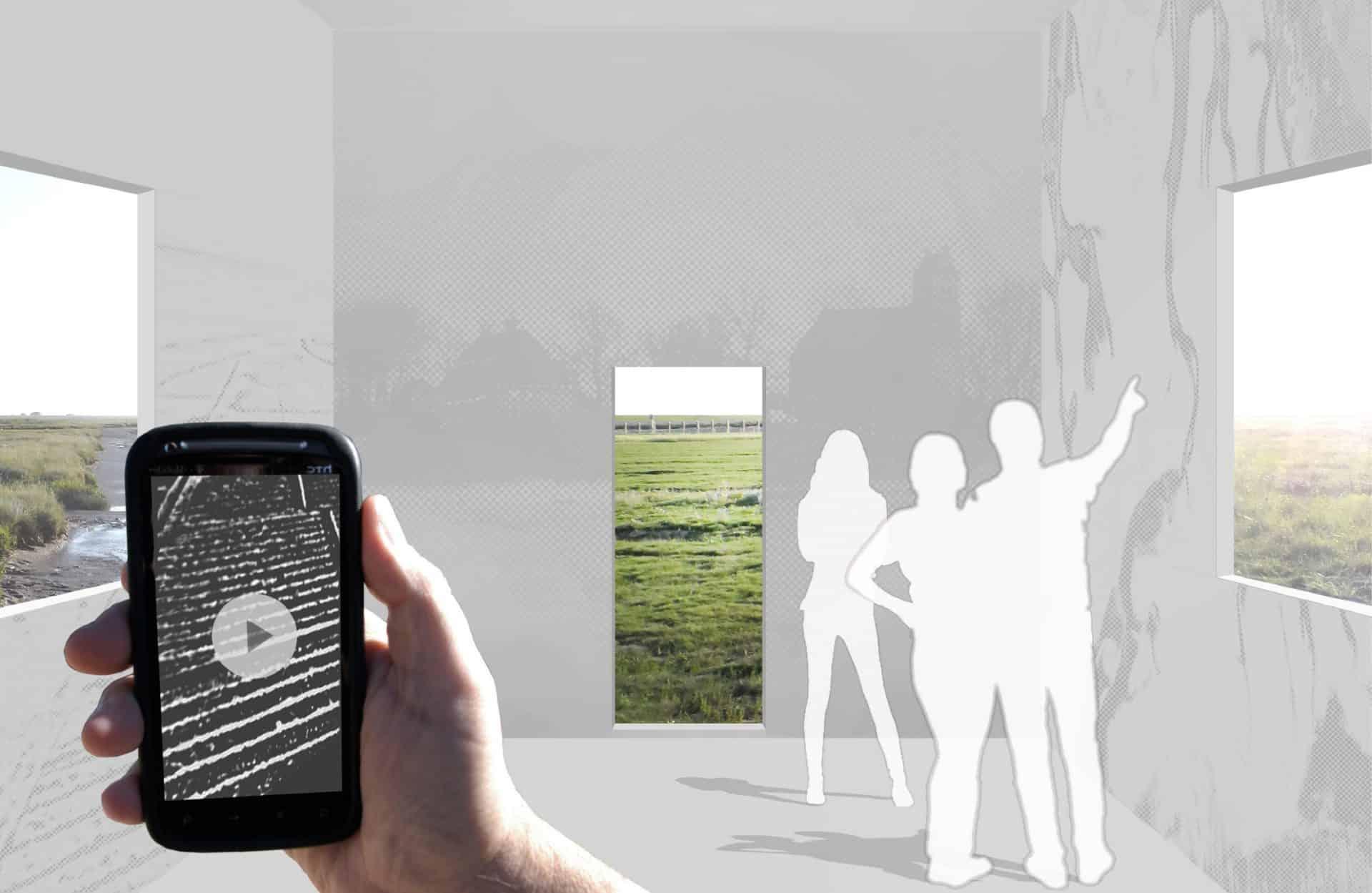De black box heeft een goed geheugen en bevat veel informatie. Informatie op de wanden is via een Layar app op de smartphone om te zetten in bewegende beelden. Er spelen films af over de opbouw van de wierde, de bouw van de kwelderwerken en de toekomst van de Waddenzee. De black box verbindt zo het verleden, het heden en de toekomst met elkaar.