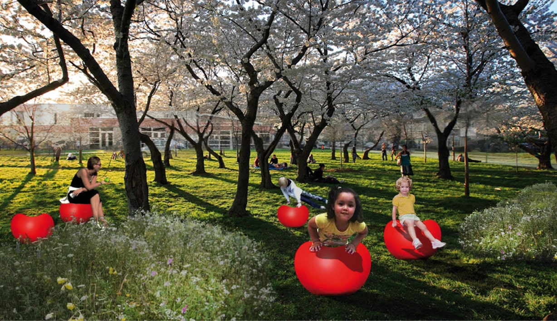 sfeerbeeld eetbaar park fruitpark
